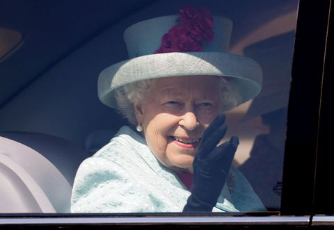 britains queen elizabeth ii waves from her car after attending the easter mattins service at st georges chapel, windsor castle on april 21, 2019   britains queen elizabeth ii celebrates her birthday on sunday, marking 93 years in the public glare photo by kirsty wigglesworth  pool  afp        photo credit should read kirsty wigglesworthafp via getty images