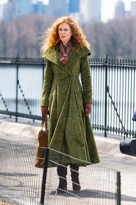 new york, new york   march 27 nicole kidman is seen on set for the undoing in central park on march 27, 2019 in new york city photo by gothamgc images