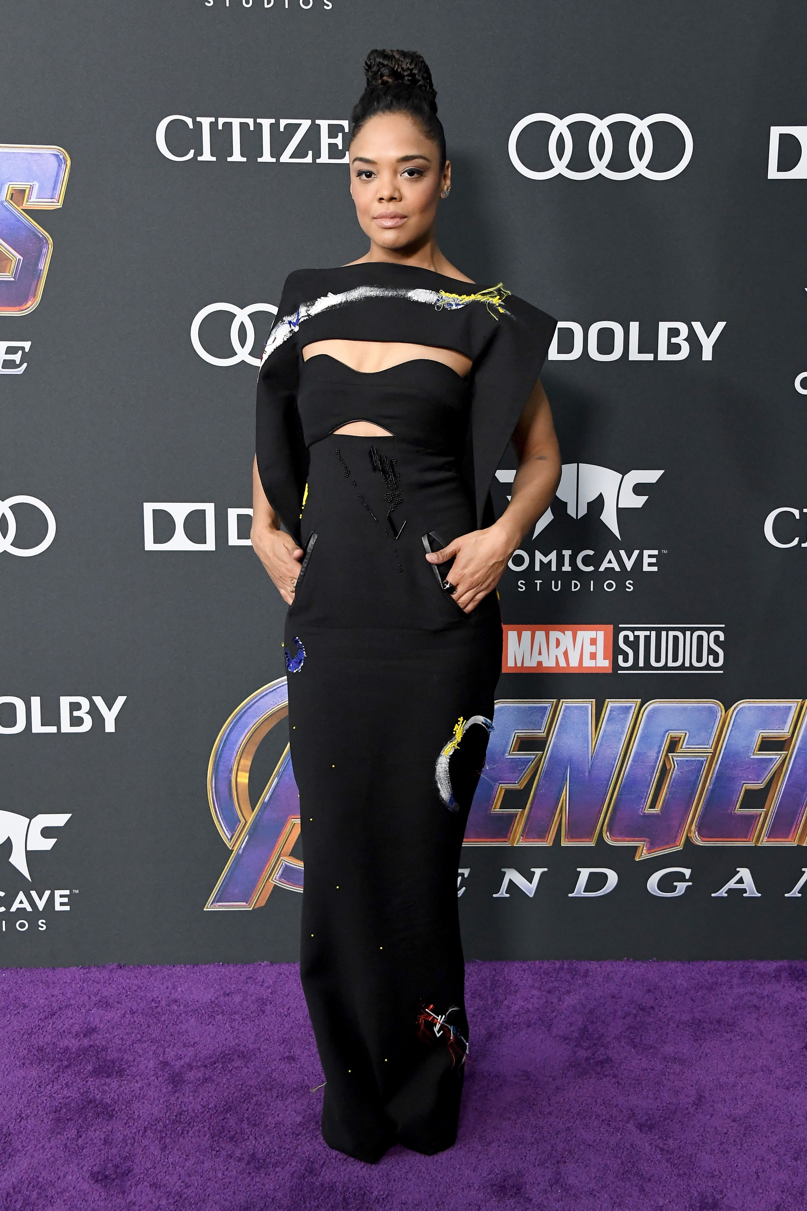 Tessa Thompson In Ronald van der Kemp Haute Couture.