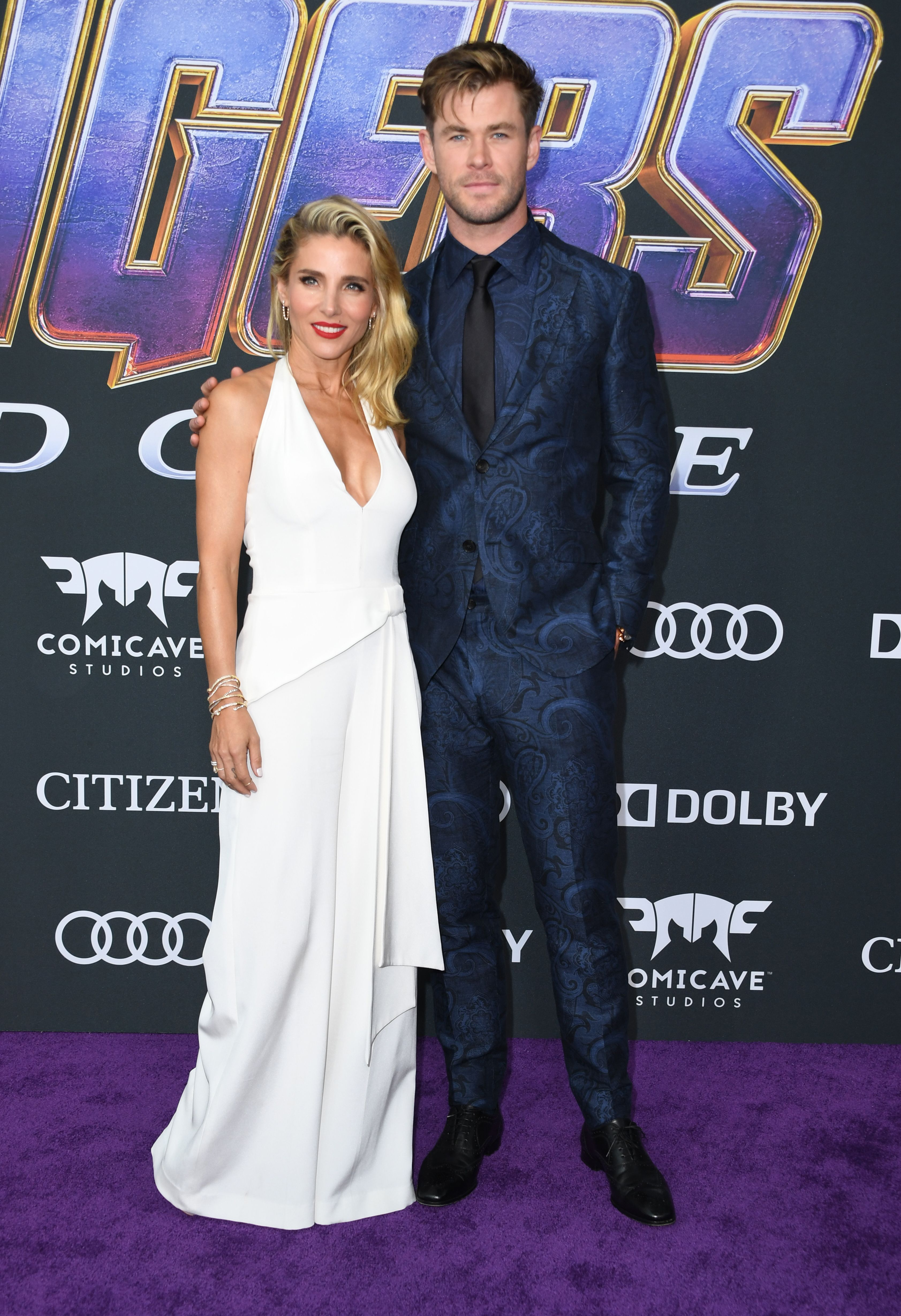 Chris Hemsworth and Elsa Pataky Hemsworth in Etro.