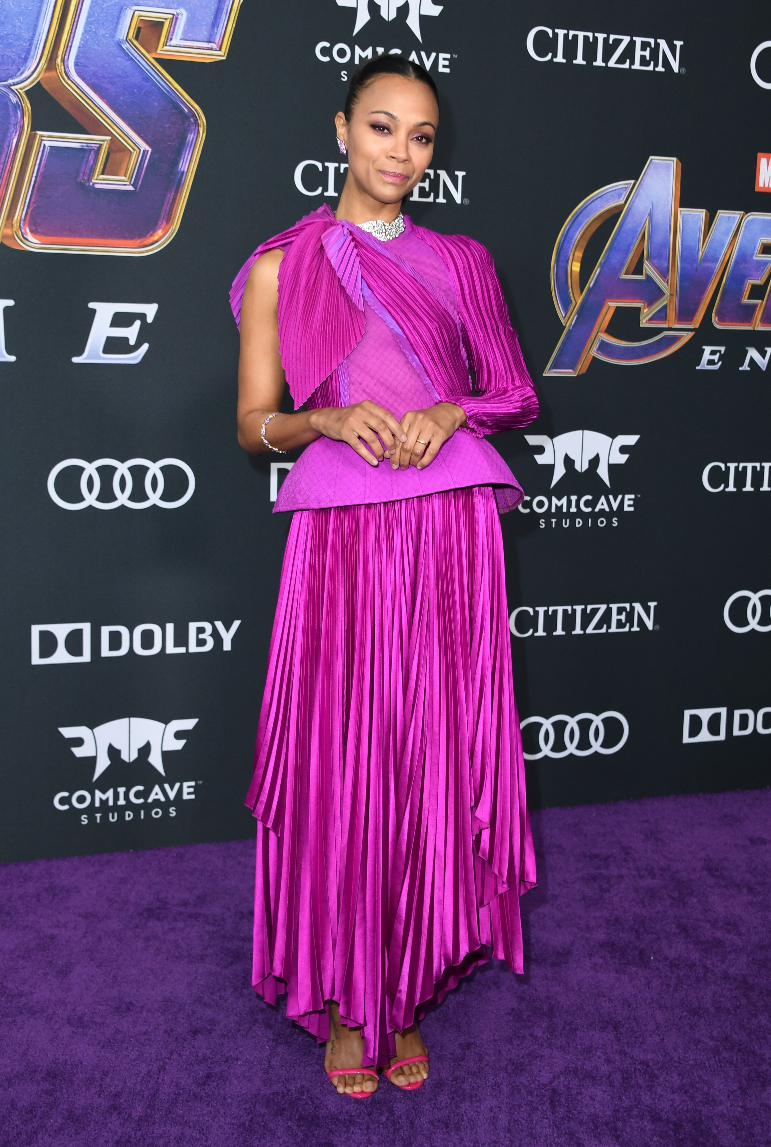 Zoe Saldana In Givenchy Haute Couture.