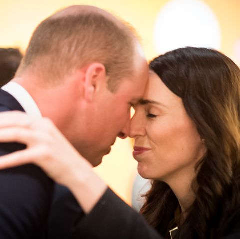 Prince William with Jacinda Ardern