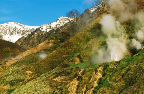 Valley Of Geysers, Reserve Of Kronotski, Kamtchatka, In Russia In May, 2000-