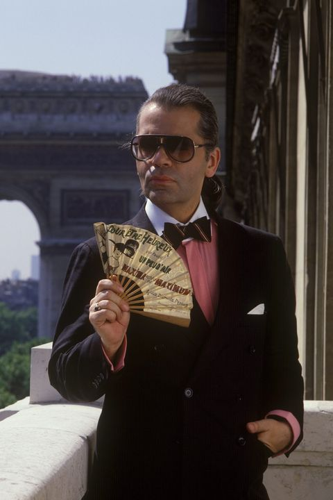 Karl Lagerfeld, portraits In Paris, France In January 1983-
