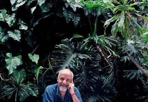 Author Paulo Coelho in Copacabana In Rio de Janeiro, Brazil In 1996-