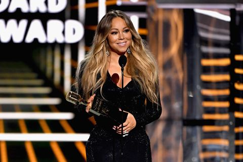 las vegas, nv   may 01  mariah carey accepts the icon award onstage during the 2019 billboard music awards at mgm grand garden arena on may 1, 2019 in las vegas, nevada  photo by ethan millergetty images