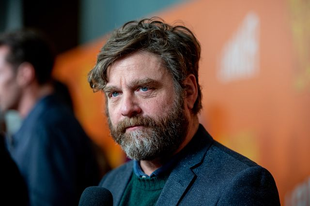 """new york, new york   april 07 actor zach galifianakis attends the """"missing link"""" new york premiere at regal cinema battery park on april 07, 2019 in new york city photo by roy rochlingetty images"""