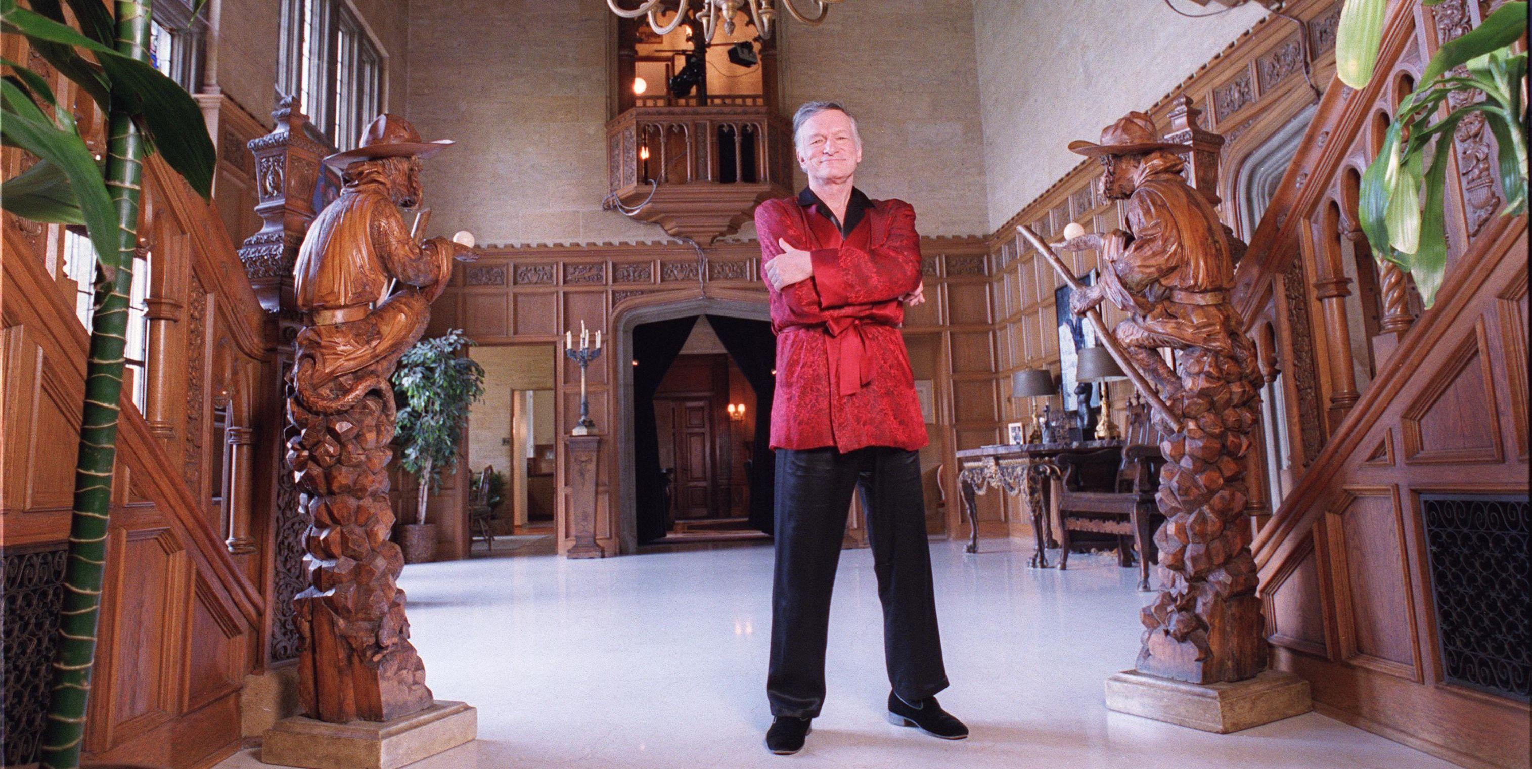 Hugh Hefner, photographed at the Playboy Mansion in 1999.