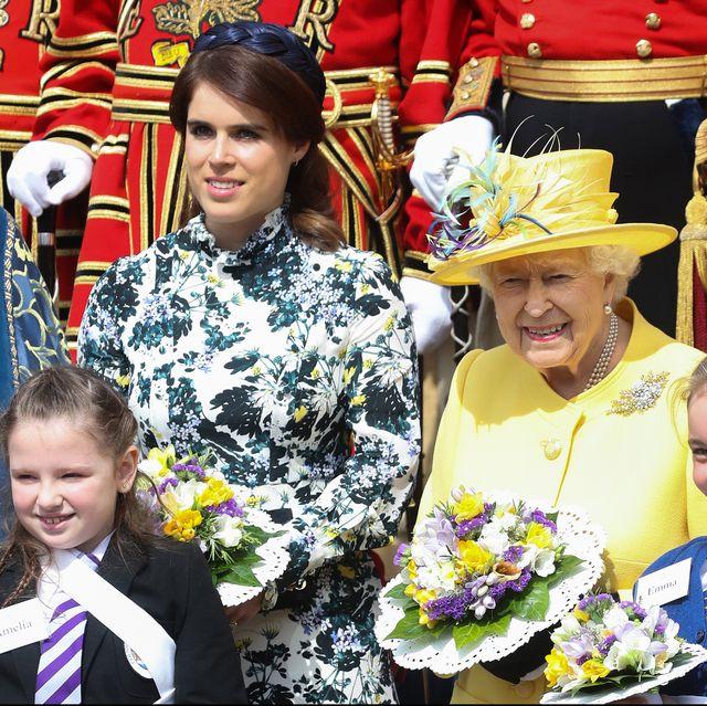 bd30e72e216 Every Photo of Queen Elizabeth II and Princess Eugenie Celebrating ...
