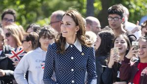 Kate Middleton Alessandra Rich Dress Bletchley Park