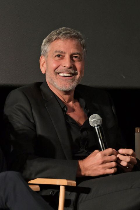 london, england    may 15  george clooney attends the london premiere of new channel 4 show catch 22, based on joseph hellers novel of the same name, at vue westfield on may 15, 2019 in london, england  photo by david m benettdave benettgetty images for channel 4 television