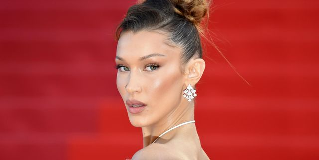 topshot   us model bella hadid poses as she arrives for the screening of the film rocketman at the 72nd edition of the cannes film festival in cannes, southern france, on may 16, 2019 photo by loic venance  afp photo by loic venanceafp via getty images