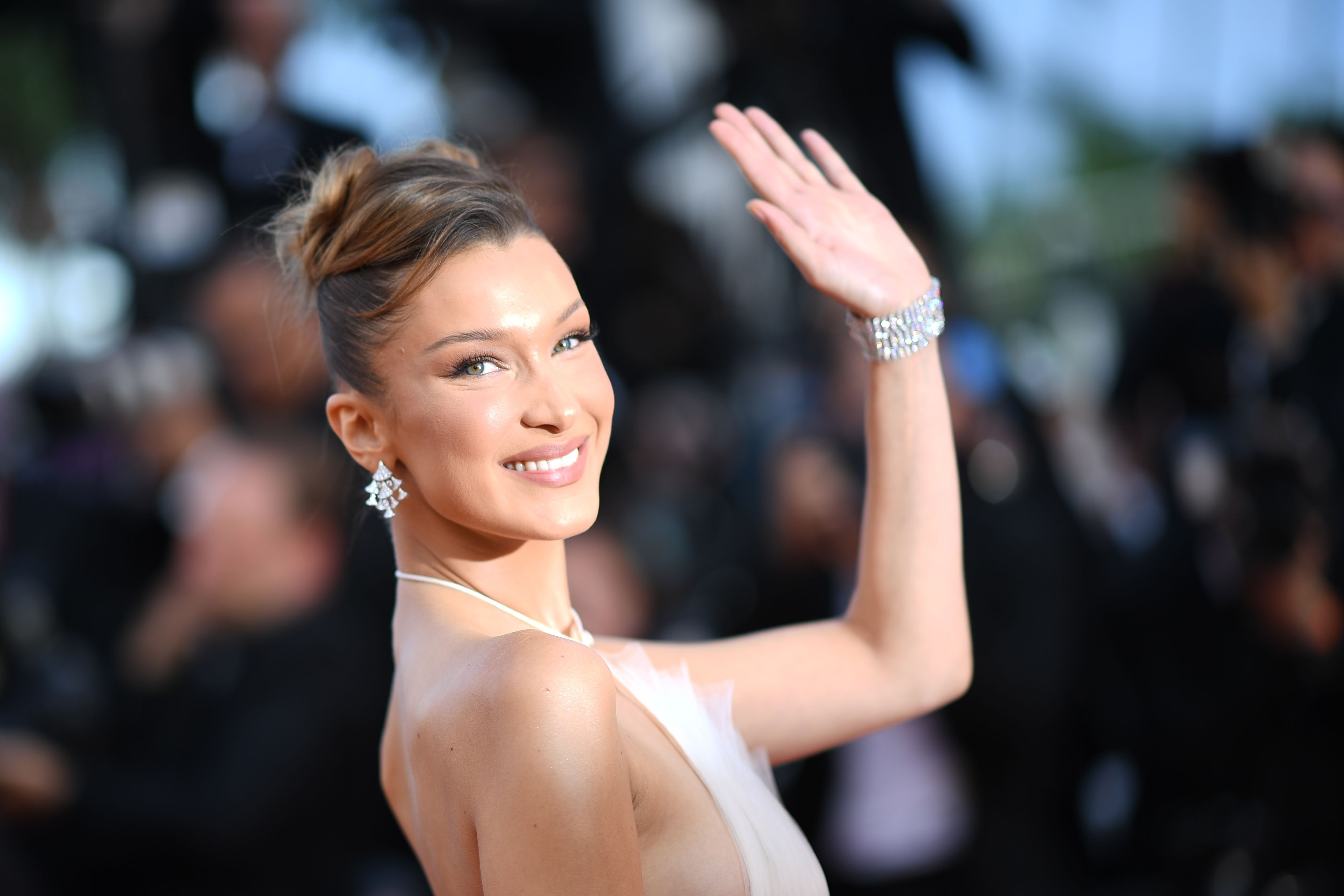 Bella Hadid Is An Actual Angel In This White Tulle Gown at Cannes