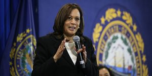 U.S. Senator And Presidential Candidate Kamala Harris Holds Town Hall In NH