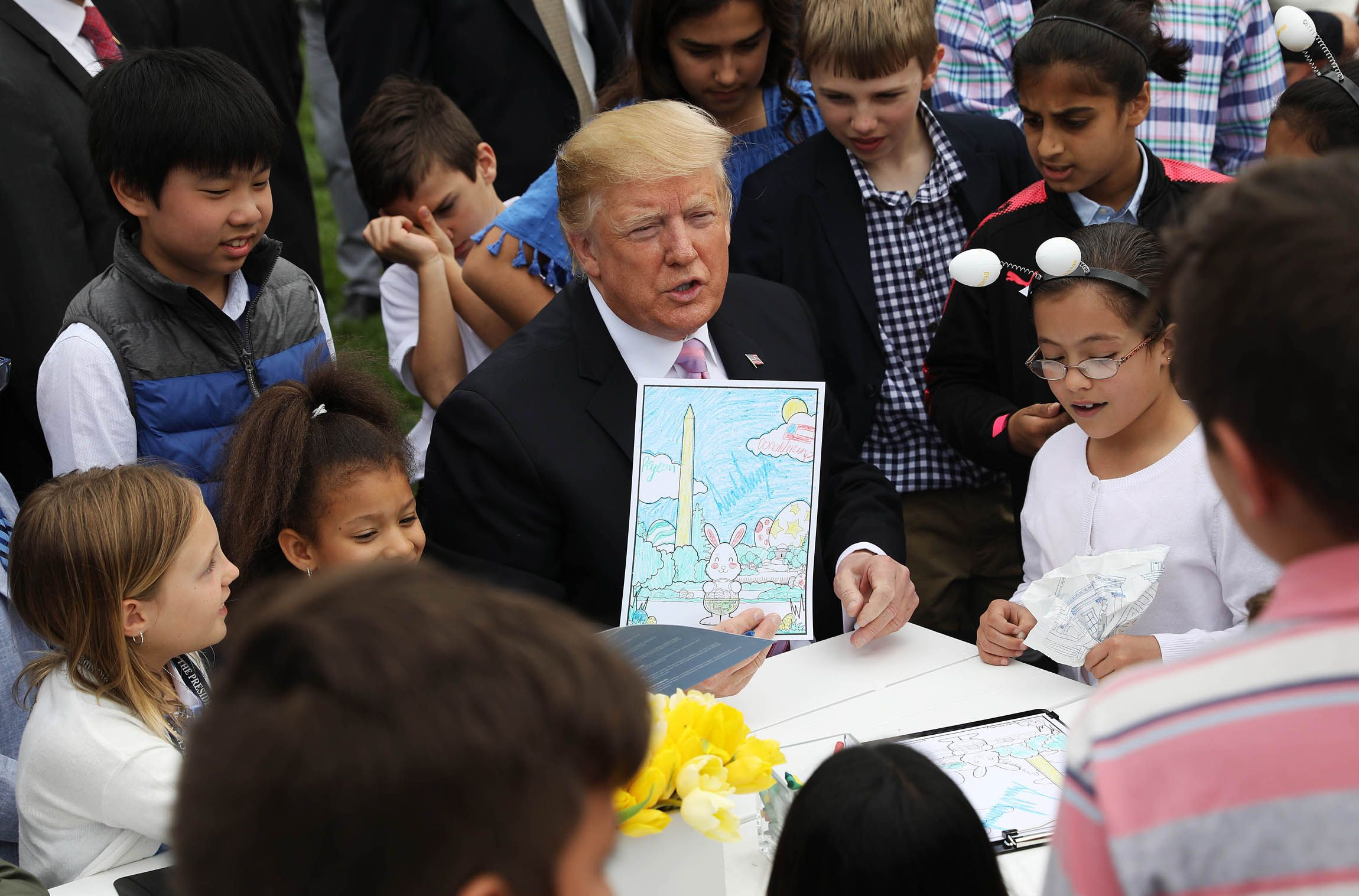The Annual Easter Egg Roll Is Very Weird at the Trump White House