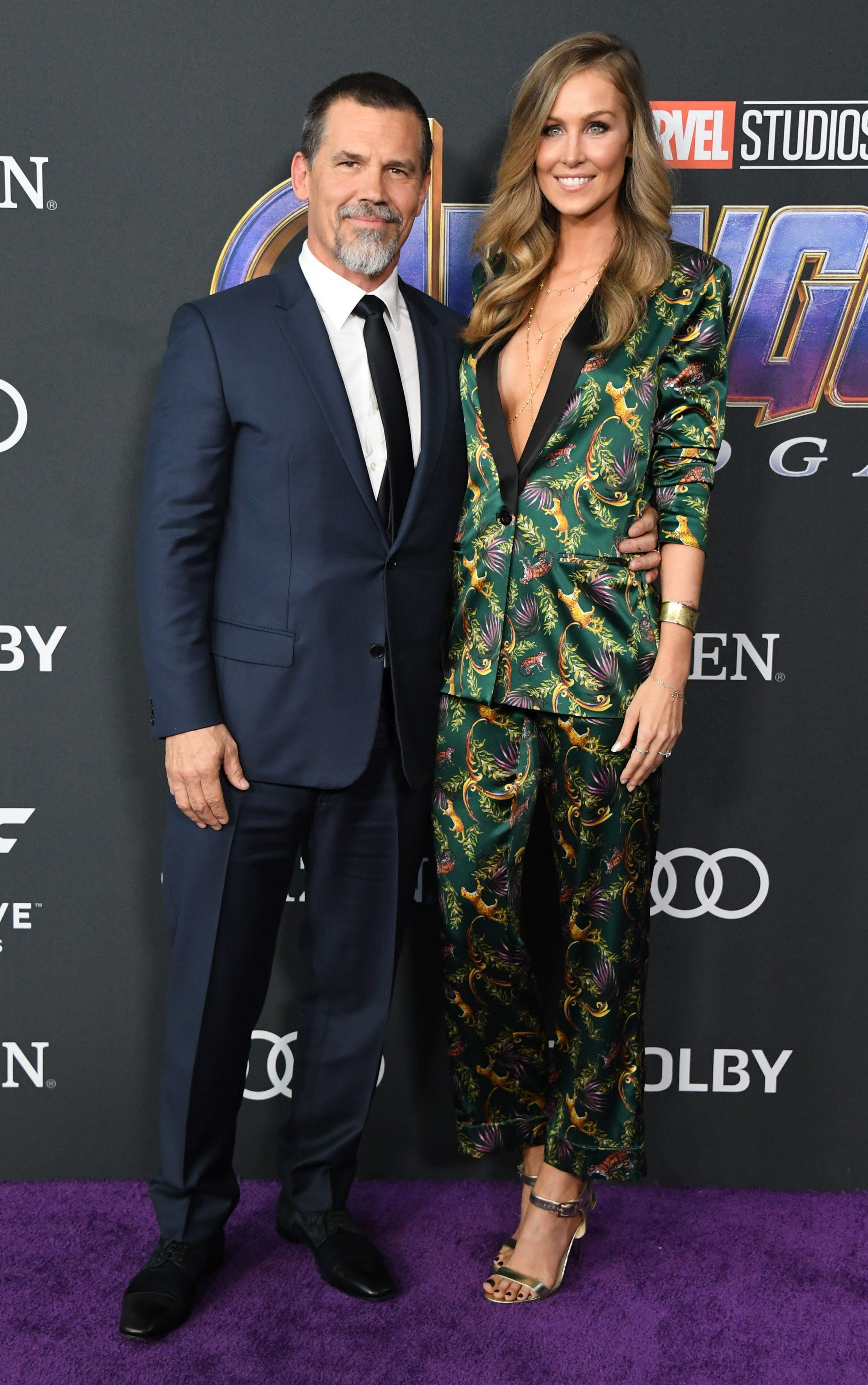 Josh Brolin and Kathryn Boyd Brolin Josh in Dior.