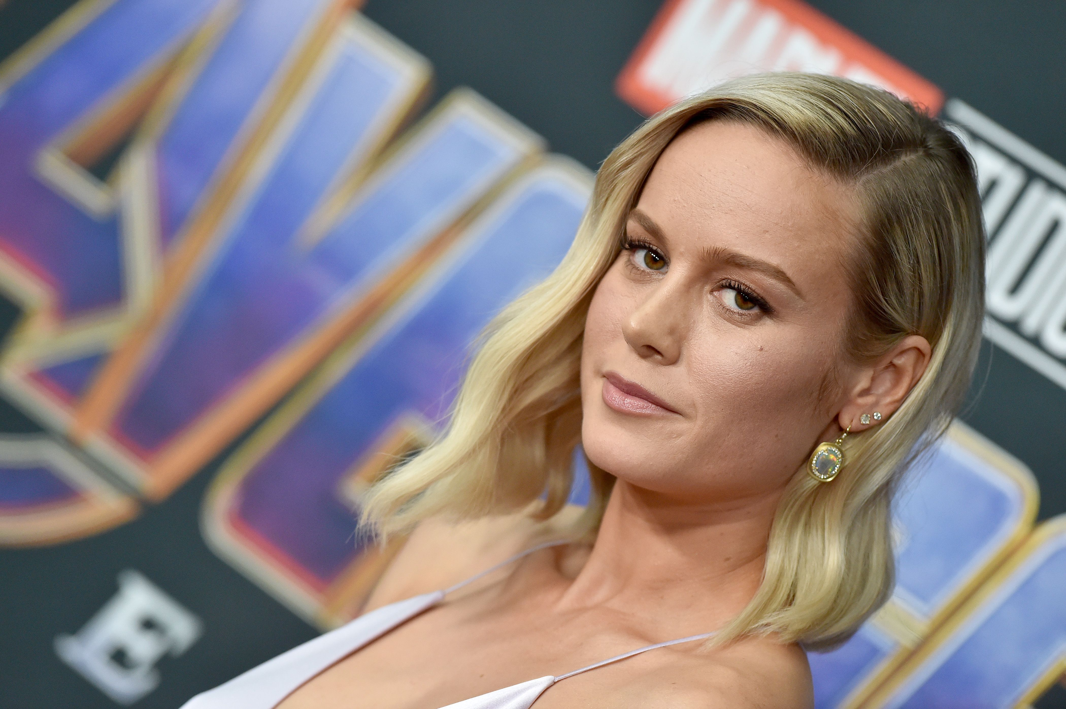 Brie Larson Just Donned the Most MAJOR (and Thematic) Jewelry at the 'Avengers: Endgame' Premiere