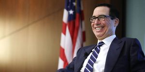 Treasury Secretary Steven Mnuchin Attends Conference On Fintech And The Future Of Banking