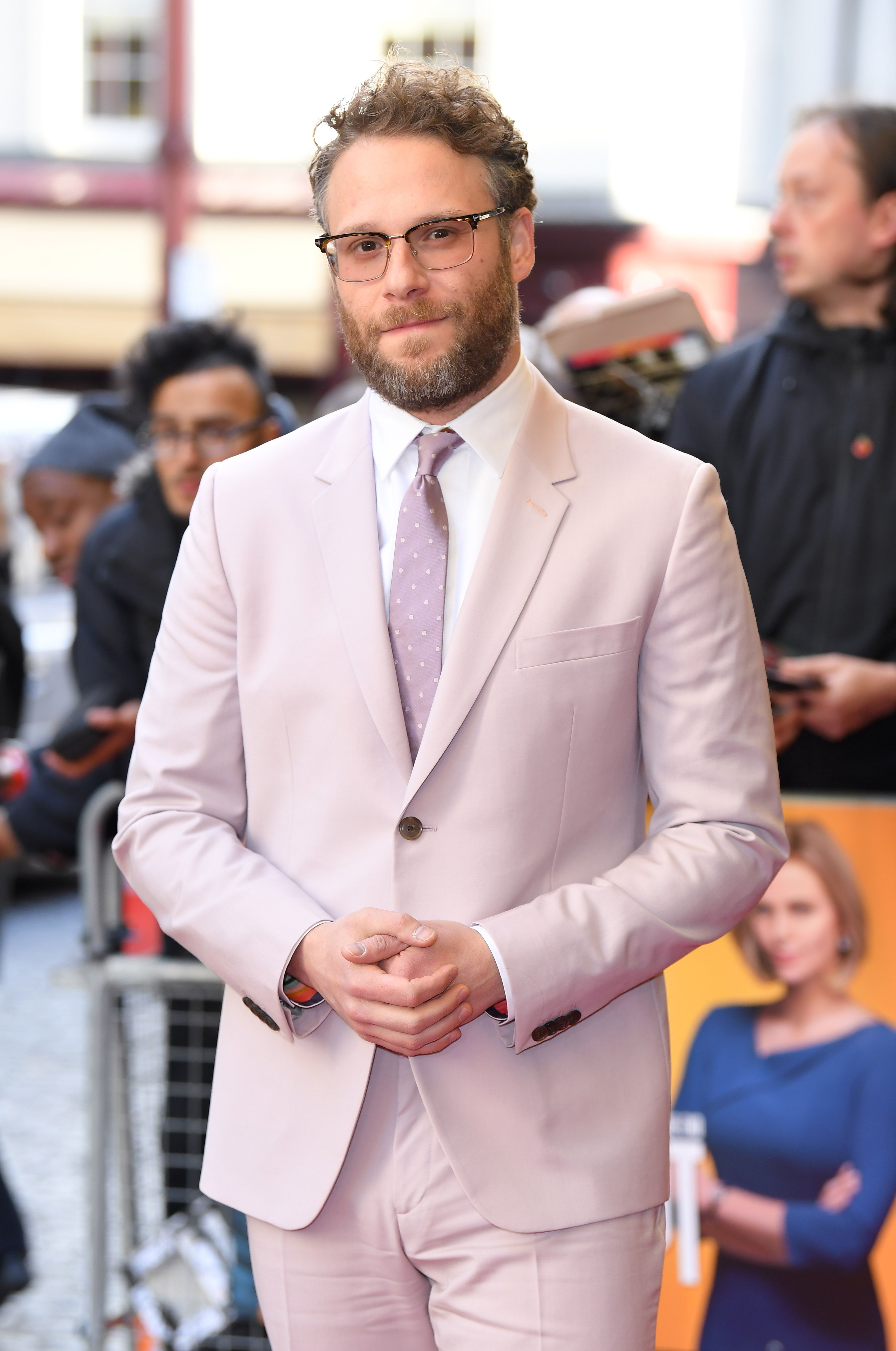 """Seth Rogen attends the """"Long Shot"""" special screening at Curzon Cinema Mayfair on April 25, 2019 in London, England."""