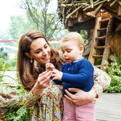 prince louis kate middleton one year old walking