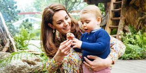 prince louis kate middleton one year old walking
