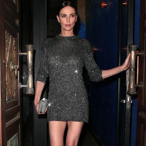 Charlize Theron sparkly mini dress