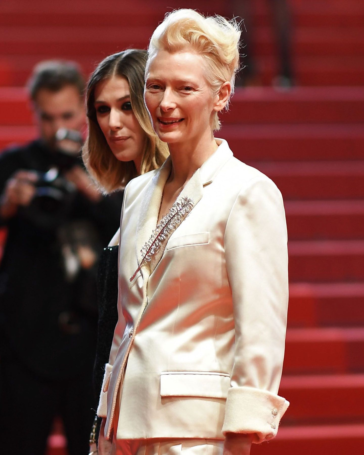 Tilda Swinton in Cannes.