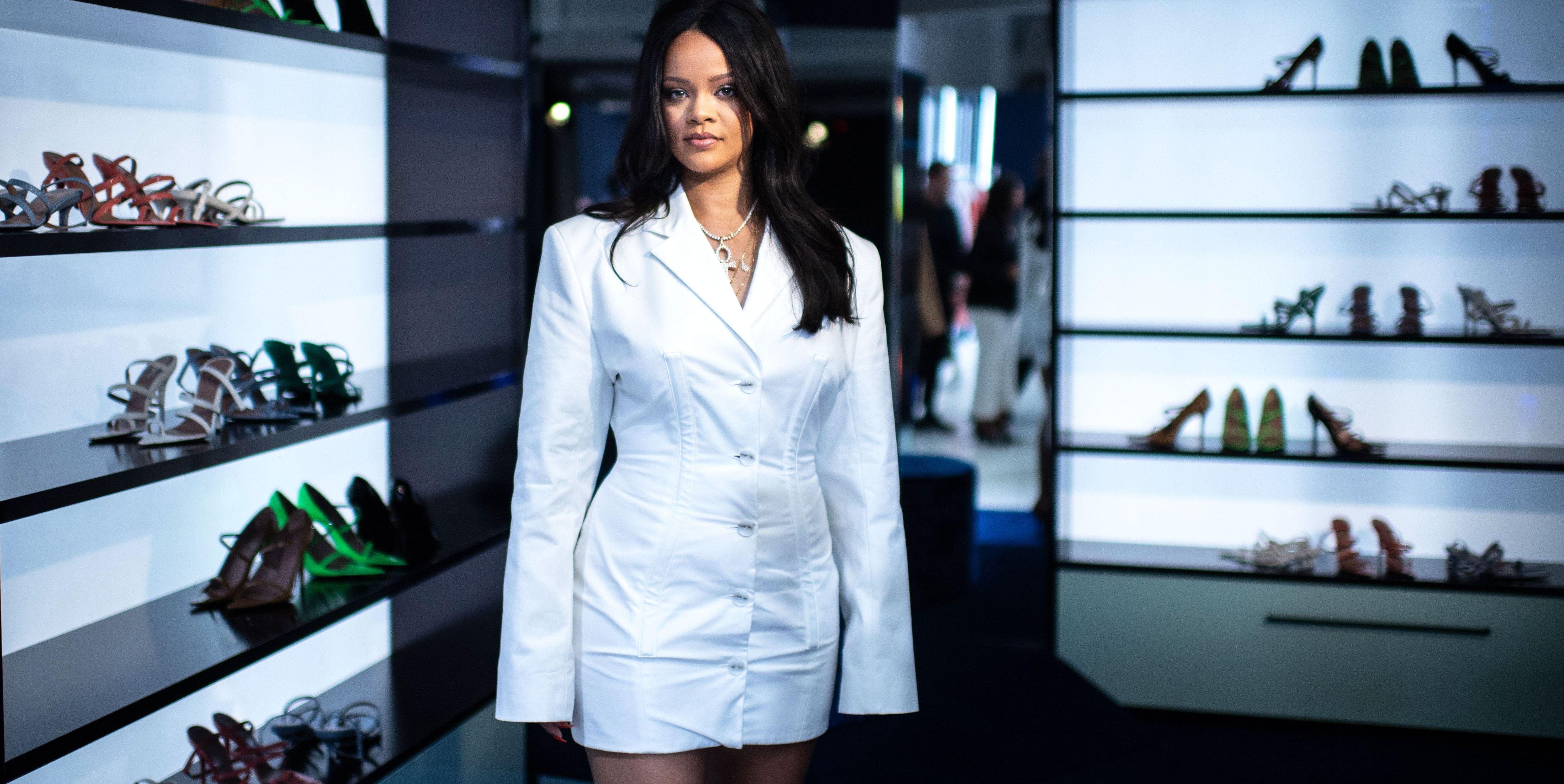Rihanna Wore Her Own Fenty Blazer Mini Dress to Launch Her New Fashion Line