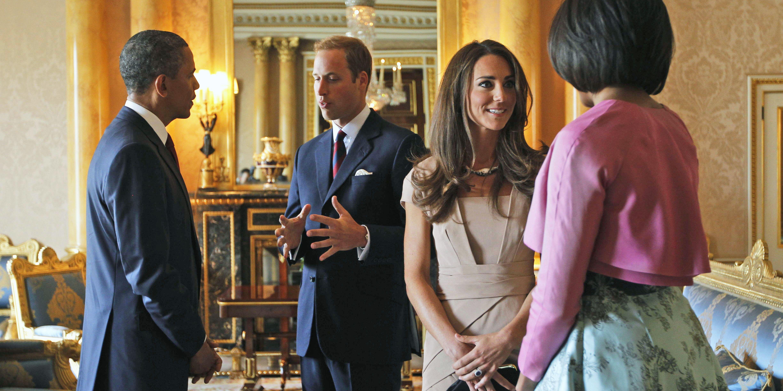 Duchess Catherine Prince William Michelle Obama Barack Obama