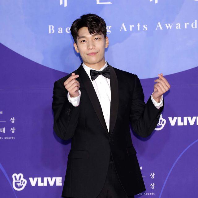 seoul, south korea   may 01 south korean actor wi ha jun attends the 55th baeksang arts awards at coex d hall on may 01, 2019 in seoul, south korea photo by han myung guwireimage