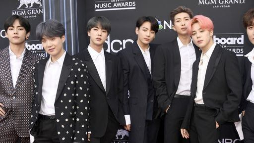 las vegas, nevada   may 01  l r v, suga, jin, jungkook, rm, jimin and j hope of bts attend the 2019 billboard music awards at mgm grand garden arena on may 01, 2019 in las vegas, nevada photo by frazer harrisongetty images