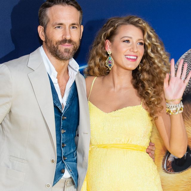 new york, new york   may 02 ryan reynolds and blake lively attend the pokemon detective pikachu us premiere at times square on may 02, 2019 in new york city photo by mark saglioccofilmmagic
