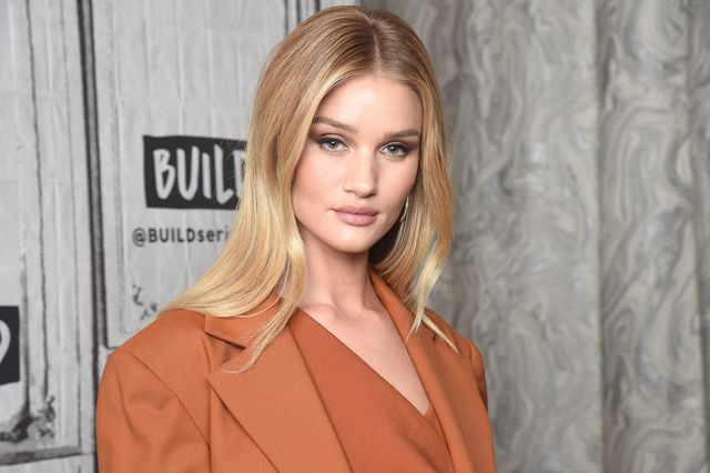 new york, new york   may 03  rosie huntington whiteley visits the build series to discuss the digital platform rose incat build studio on may 03, 2019 in new york city photo by gary gershoffgetty images
