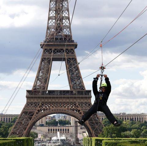 eiffel tower zip line paris france