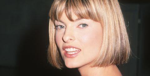 Hair, Face, Hairstyle, Blond, Beauty, Chin, Bangs, Eyebrow, Bob cut, Head,