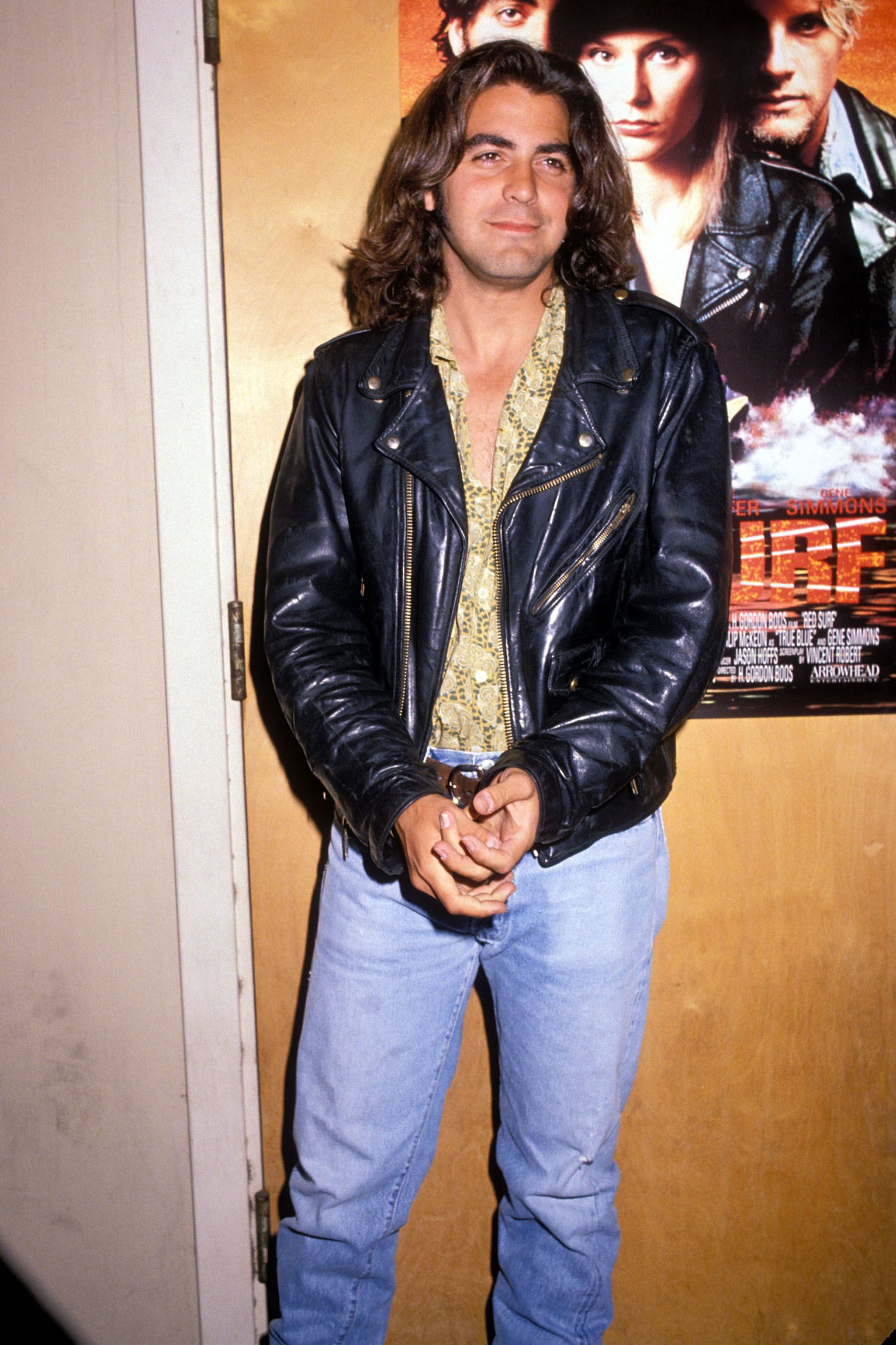 Clooney in Los Angeles in 1990 promoting his film Red Surf.