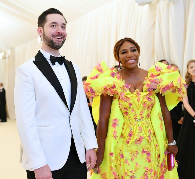 new york, new york   may 06 serena williams and alexis ohanian attend the 2019 met gala celebrating camp notes on fashion at metropolitan museum of art on may 06, 2019 in new york city photo by mike coppolamg19getty images for the met museumvogue