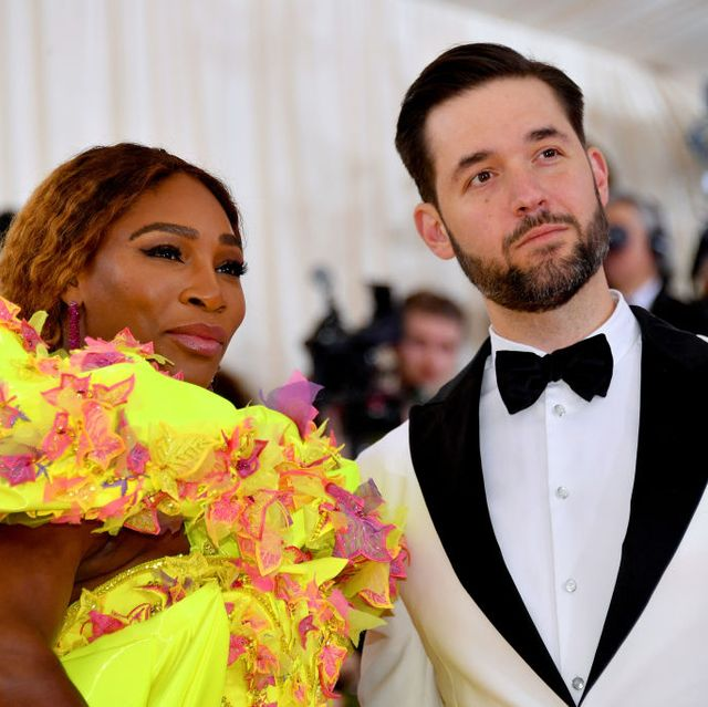 serena williams and alexis ohanian met gala