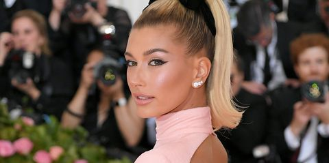 824a39fb72fb Hailey Baldwin Wore a Crystal Thong on the 2019 Met Gala Red Carpet