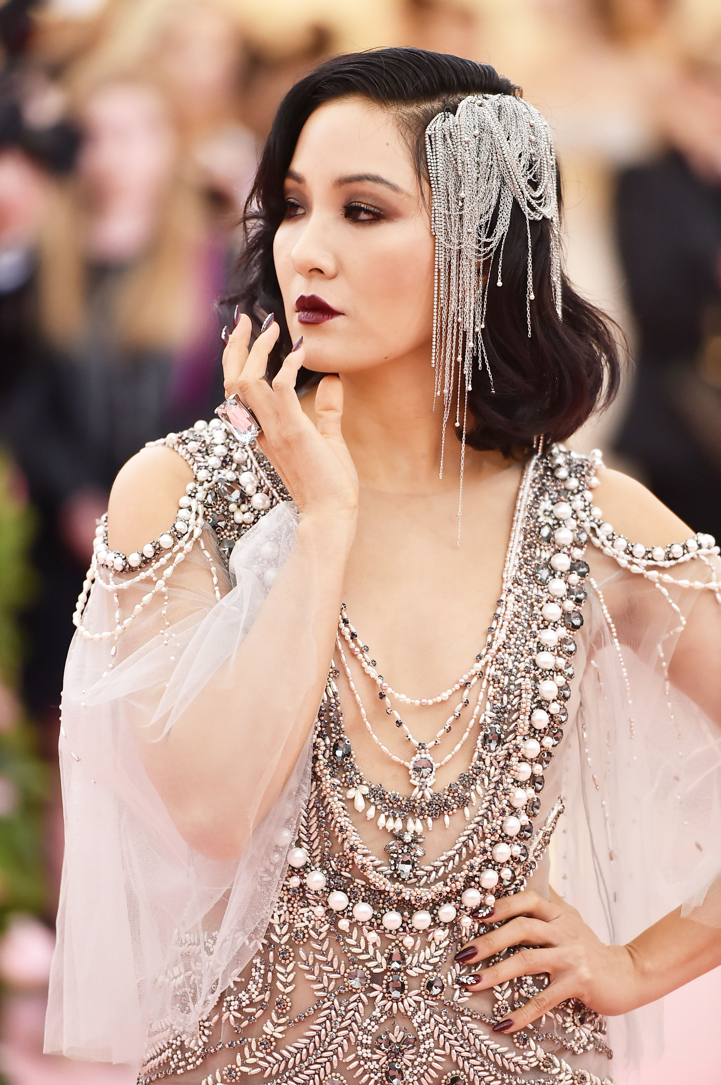 """Constance Wu Constance Wu is dripping in decadence. Yes, you absolutely can couple a deep smokey eye with an even moodier lip for a killer """"thief in the knight"""" vibe."""