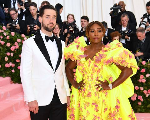 new york, new york   may 06 alexis ohanian and serena williams attend the 2019 met gala celebrating camp notes on fashion at metropolitan museum of art on may 06, 2019 in new york city photo by dimitrios kambourisgetty images for the met museumvogue