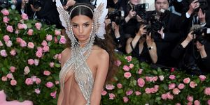Emily Ratajkowski wears naked dress at the Met Gala