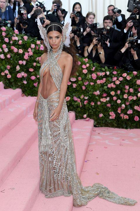 Emily Ratajkowski wears naked dress at the Met Gala
