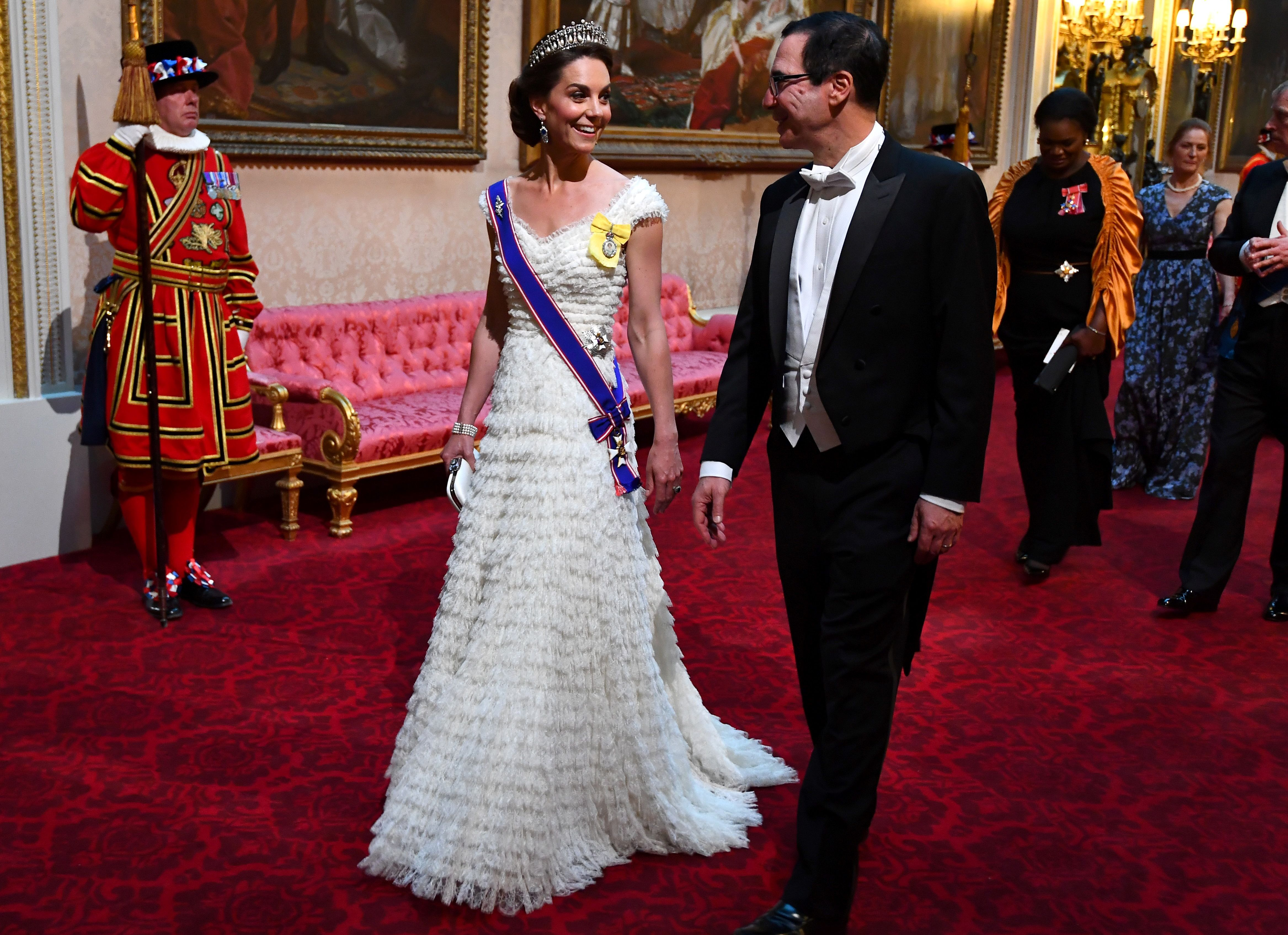 "Wait, Kate Middleton's ""Rural Rival"" Rose Hanbury Was at the State Banquet with Her"