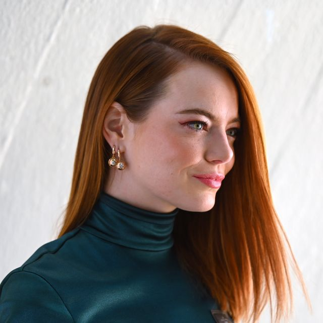 new york, new york   may 08 emma stone attends the louis vuitton cruise 2020 fashion show at jfk airport on may 08, 2019 in new york city photo by nicholas huntgetty images  for louis vuitton