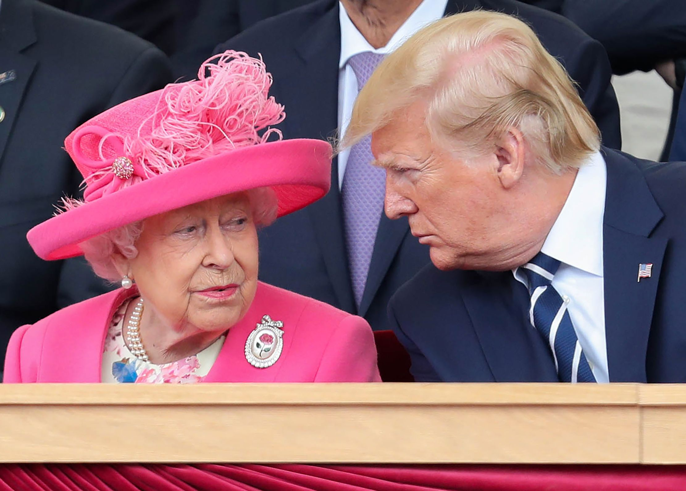 "Apparently, The Queen Complained That Trump ""Ruined"" Her Lawn During His Visit"