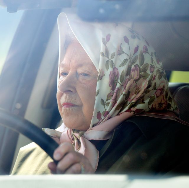 windsor, united kingdom   may 10 embargoed for publication in uk newspapers until 24 hours after create date and time queen elizabeth ii drives herself in her range rover car as she attends day 3 of the royal windsor horse show in home park on may 10, 2019 in windsor, england photo by max mumbyindigogetty images