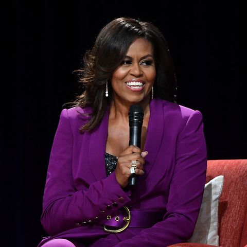 atlanta, georgia   may 11  former first lady michelle obama attends becoming an intimate conversation with michelle obama at state farm arena on may 11, 2019 in atlanta, georgia photo by paras griffingetty images