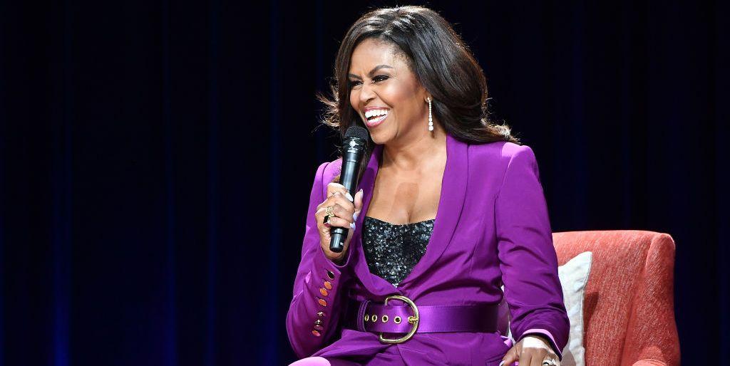 Michelle Obama sequin bustier