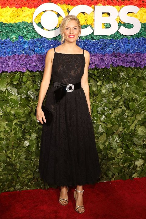 Sienna Miller black Miu Miu Dress Tony Awards